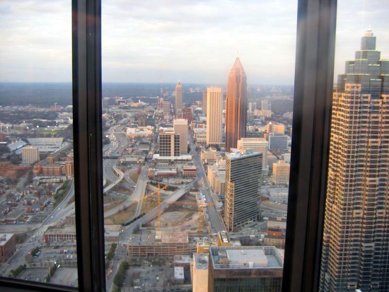 Atlanta from the restaruant at the top