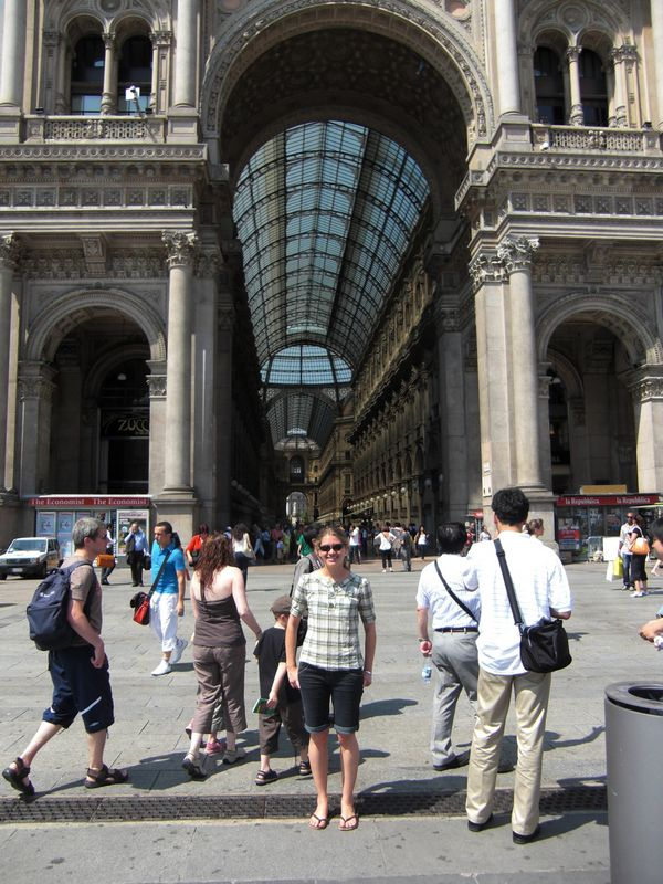 Lindsey by the Galleria Vittorio Emanuele