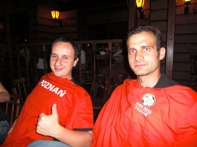 Giuseppe and Max look enthusiastic with the 2012 shirts