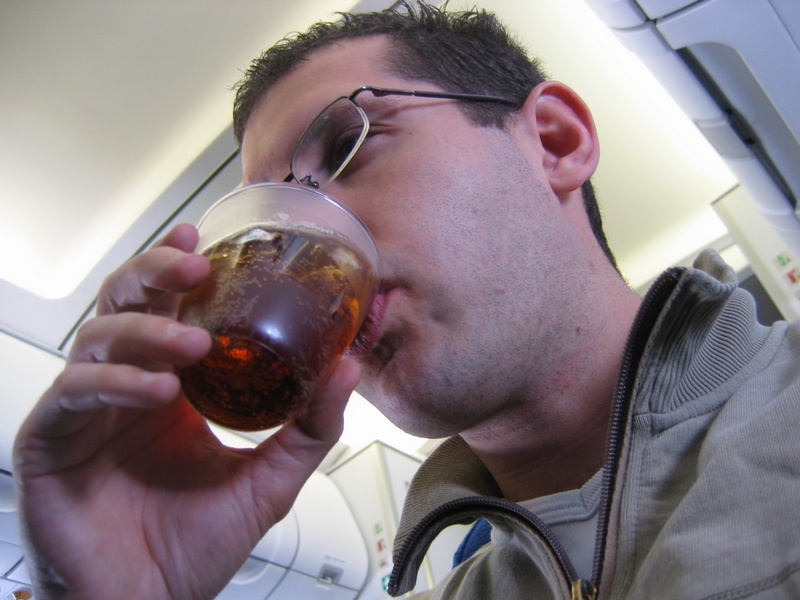 Getting drunk on the plane