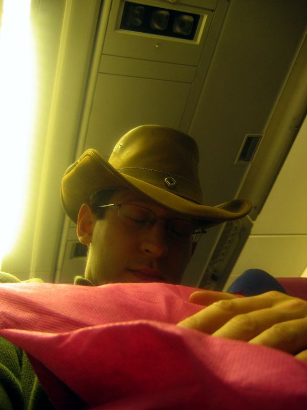 Sleeping with the hat on