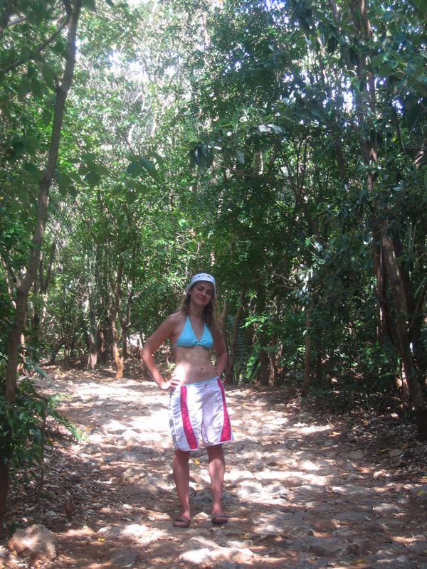 Girl in the jungle