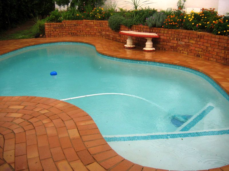 The pool with the salted water