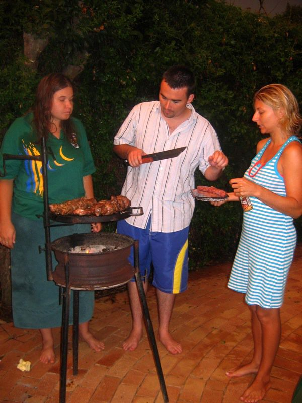 Getting ready for the Braai