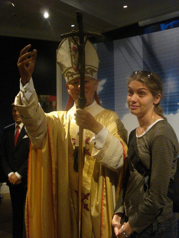 The best pope ever and Lindsey, not so impressed