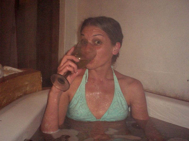 Lindsey in the Jacuzzi